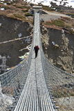 Long suspension foot bridge Stock Photography