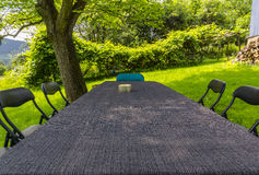 Long table Royalty Free Stock Image