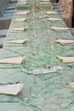 Long table in restaurant Stock Photos