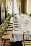 Long table wedding stock photography