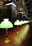 Long Table With Lamps In Library Royalty Free Stock Photo