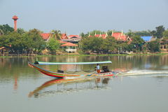 Long tail boat. Longtail boat on the Chao Phraya river stock images