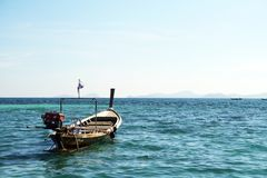 Long tail boat in andaman sea Royalty Free Stock Photos