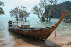 Long tail boat in Andaman sea Stock Photography