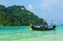 Long tail boat on Andaman sea Stock Photography