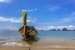 Long tail boat at Ao Nang Beach, Krabi, Thailand royalty free stock photo