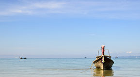 Long tail boat at Aonang Krabi Royalty Free Stock Image