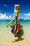 Long tail boat on beach, Thailand Royalty Free Stock Photos