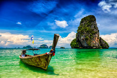 Long tail boat on beach, Thailand Royalty Free Stock Image