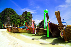 Long tail boat on beautiful tropical beach Royalty Free Stock Photography