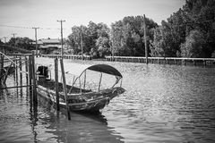 Long tail boat on the canal at Bang Khun Thian Bangkok. Thailand stock photos