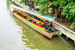 Long tail boat on the canal Stock Photography