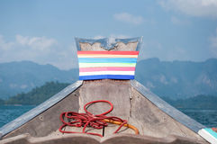 Long-tail boat on Cheow Lan Lake, Khao Sok National Park in sout Royalty Free Stock Photos