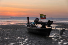 Long tail boat at dawn Stock Image