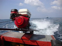 Long tail boat engine. Royalty Free Stock Photography