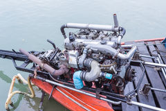 Long tail boat engine. Thailand Stock Photo