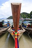 Long tail boat front Royalty Free Stock Images