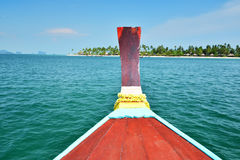 Long tail boat head Stock Images