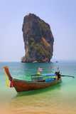 Long tail boat in island Stock Image