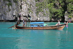 Long-tail boat Royalty Free Stock Photo