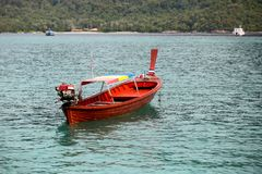 Long tail Boat at KO LIPE on November 2014, Tarutao National Par. K, Satun, South of Thailand Stock Images