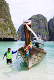 Long tail boat on Koh Phi-Phi, Thailand Stock Photography