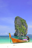 A long tail boat @ koh Poda Royalty Free Stock Photography