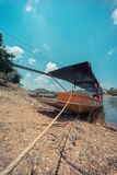 Long tail boat in lake Stock Photos