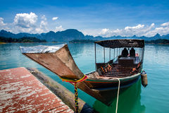Long tail boat local water transport ship in southern of thailan Royalty Free Stock Photography