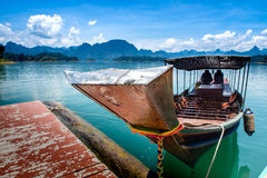 Long tail boat local water transport ship in southern of thailan Royalty Free Stock Image