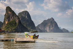 Long tail boat in Phang Nga Bay Stock Photo