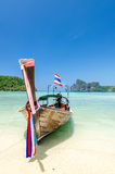 Long-tail boat at Phi Phi island Stock Photo