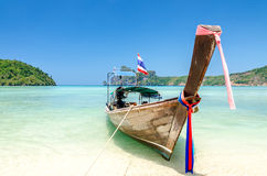 Long-tail boat at Phi Phi island Stock Image