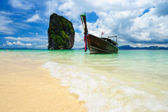 Long-tail boat in poda island, Krabi, Thailand Royalty Free Stock Photography