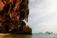 Long-tail boat. Railay beach. Krabi. Thailand Stock Photography