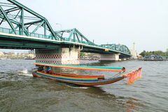 Long tail boat on river in Thailand Stock Images