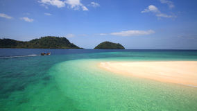 Long tail boat sailing on Beautiful Andaman crystal sea, Thailand Royalty Free Stock Images