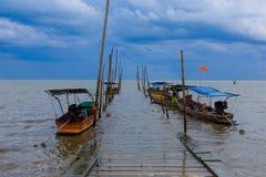 Long tail boat , Samutsongkram in Thailand Stock Photos
