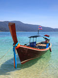 Long tail boat sit on the beach, Thailand Royalty Free Stock Photography