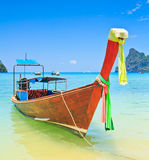 Long tail boat in the south of Thailand Stock Photo