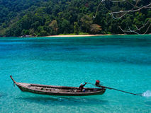 Long-tail Boat at Surin Island, Thailand. The long-tail boat is a type of watercraft native to Southeast Asia Royalty Free Stock Image