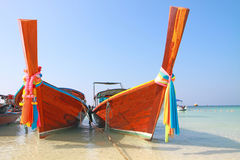 The long tail boat Stock Photography