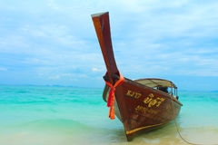 Long tail boat Royalty Free Stock Images