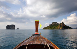 Long tail boat in Thailand royalty free stock image