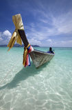 Long tail boat in Thailand royalty free stock photography
