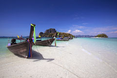Long tail boat in Thailand royalty free stock photos