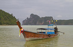Long tail boat in Thailand. Stock Photo