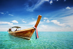 Long Tail boat in Thailand sea Stock Image