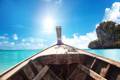 Long tail boat in Thailand. Royalty Free Stock Image