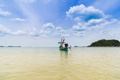 Long tail boat. Traditional long tail boat in Thailand Royalty Free Stock Photography